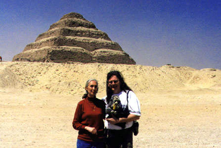 Jane Goodal and Randy Raine-Reusch, Egypt